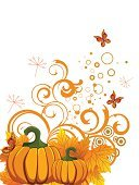 Pumpkin,Nature,Romance,Season,Vector,Thanksgiving,Leaf,Ilustration,Backgrounds,Autumn,Botany,Multi Colored,Plant,Creativity,Abstract