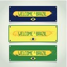 Sign,Label,Banner,Symbol,Retro Revival,Set,Striped,Grunge,Placard,Welcome Sign,Shadow,Vibrant Color,Flat,Design Element,Art,Guest,Vector,Sunny,Volume,state,South America,Tourism,Country - Geographic Area,Brazil,Run-Down,Messy,Old-fashioned,Travel,Invitation,Creativity,Modern,template,Computer Graphic,Ilustration,Greeting,Visit,Small Group of Objects