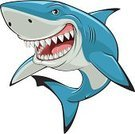 Great White Shark,Mascot,Ilustration,Wildlife,Animal,Human Face,Fun,Vector,Nature,Blue,Aggression,Cute,Sea,Evil,Underwater,Smiling,Cartoon Animals,Carnivore,Sea Life