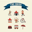 Carousel,Circus,Pennant,Toy Wagon,Juggling,Clown,Vector,Ilustration,Event,Entertainment,Monkey,Fun,Traditional Festival,Happiness,Exhibition,Bicycle,Celebration,Holiday,Party - Social Event,Carnival,Horse,Umbrella,Ribbon
