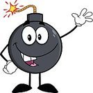 Waving,Weapon,Paintings,Ilustration,Image,Image Type,Digitally Generated Image,Clip Art,Vector,Color Image,Exploding,Detonator,Bomb,Fuse,Boom,Design,Multi Colored,Mascot,Cheerful,Drawing - Art Product,Cartoon,Humor,Characters,Computer Graphic,Happiness,Smiling,Illustrations And Vector Art,Vector Cartoons,Hand Grenade,Igniting,Hand Sign,Danger,Isolated On White,Painted Image,Joy