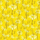 Vector,Backgrounds,Pattern,Daisy,Yellow,Abstract,Grass,Leaf,Organic,Computer Graphic,early spring,Sketch