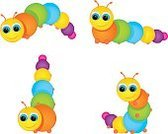 Caterpillar,Fun,Cheerful,Worm,Larva,Centipede,Gymnastics,Slow,Summer,Small,Vector,Isolated On White,Multi Colored,Acrobatic Activity,Pets,Cute,Nature,Insect,Cartoon,Smiling