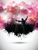 People,Silhouette,Back Lit,Party - Social Event,Dancing,Little Boys,Women,Casual Clothing,Men,Pair,Grunge,splats,Splattered,Disco,EPS 10,Youngsters,Celebration,Friendship,Abstract,Emo,Spray,Group Of People,Vector,Crowd,Eps10,Backgrounds,Disco Dancing