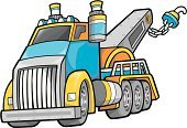 Tow Truck,Towing,Truck,Large,Art,Clip Art,Land Vehicle,Construction Industry,Vector,Blue,Tire,Grille,Wheel,Ilustration,Illustrations And Vector Art,Transportation,Isolated,Transportation,Trucking,Carrying,hauler