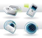 Telephone,Mobile Phone,Icon Set,Symbol,Computer Icon,E-Mail,Internet,Globe - Man Made Object,Technology,Business,Web Page,Mail,Global Communications,Connection,Communication,Ringing,Sphere,Interface Icons,www,Keypad,Design Element,Vector,Clip Art,Sound,Ilustration,Business,Technology,Communication,Concepts And Ideas