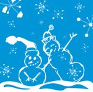 Snowman,Winter,Christmas,Snowflake,Snow,Stick - Plant Part,Illustrations And Vector Art,flakes,Cap,Holiday,Cold - Termperature