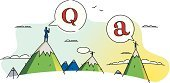 Q and A,Letter Q,faq,Asking,Solution,Mountain,Mountain Range,Pursuit - Concept,Expertise,Meeting,Learning,Talking,Discovery,Wisdom,Business Symbols/Metaphors,Communication,People,Correspondence,Business,Concepts And Ideas