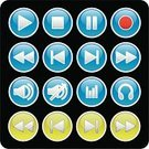 Multimedia,Icon Set,Symbol,Sound Wave,Audio Equipment,Playing,Speaker,Push Button,Music,Interface Icons,Green Color,Ilustration,Stop,Headphones,Volume,Blue,Light - Natural Phenomenon,Volume - Fluid Capacity,Illustrations And Vector Art,Web Page,Collection,Arranging,Lightweight,Shiny,Reflection,Gray,Frame,Internet,Vector