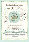 Craft,Art And Craft,Exhibition,Sale,Sewing,Homemade,Thread,Market,Bunting,Craftsperson,Scissors,Canning,Art,Community,White Background,Poster,Invitation,Single Flower,Event,Endorsing,Support,Fork,Paintbrush,Flower,Wood - Material,Jar,template,Set,Sewing Needle,Text,Button,Ribbon,Craft Fair,Vector,Artist,hand drawn,Yarn Ball,Independence,Design,Organic,Feather,Spoon,Ilustration,Circle,Annual Event,Backgrounds