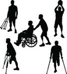 Physical Impairment,Amputee,Silhouette,Prosthetic Equipment,Physical Injury,Muscular Build,Outline,Athlete,Wheelchair,Human Leg,Pushing,Occupation,Absence,Sport,Basketball,Watching,Male,Routine,People,Back Lit,Common,Standing,Working,Mobility,Sitting,Effort,Walking,Shooting at Goal,People Traveling,Recreational Pursuit,Relaxation Exercise,On The Move,Exercising,Vector,Waiting,Healthy Lifestyle,One Person,Men,Persistence,Activity,Crutch,Ilustration,Action,Determination,Shoe