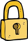 Drawing - Activity,Padlock,Cultures,Ilustration,Doodle,Cheerful,Sign,Symbol,Clip Art