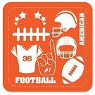 Number 1,Trophy,Success,Ball,Work Helmet,Football,Playing,Sports League,Decoration,USA,Vector,Group of Objects,Recreational Pursuit,Athlete,Equipment,Goal,Championship,Ilustration,Sport,Exercising,Competition,Winning,Orange Color