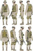 Uniform,Camouflage Clothing,Digitally Generated Image,Vector,Kneepad,Men,Protective Workwear,Side View,Armed Forces,Military Uniform,Army,Carrying,Weapon,Body Armor,Rear View,Vertical,Army Soldier,Military,Standing,Ilustration,Work Helmet,Male,military man,Shape,Full Length,Front View,Uniform Cap,360-degree View,Vector Graphics,Clip Art,Computer Graphic,Color Image,Silhouette