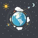 Satellite,Earth,Weather,Planet - Space,Airplane,Sphere,Rocket,Space,Night,Vector,Moon,Planetary Moon,Ilustration,Flat,Nature,World Map,Conspiracy,Transportation,Flying,Travel,Cloud - Sky,Business,Forecasting,Sun,Vacations,Europe,Curve,Day,Technology,Abstract,Star - Space,Sea,Commercial Airplane,Cloudscape,continent,Direction,Journey