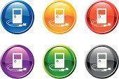 Earbud,Audio Equipment,MP3 Player,Icon Set,Symbol,Portable Radio,Computer Icon,Audio Software,Music,Audio Electronics,Purple,Electronics Industry,Green Color,Interface Icons,Sparse,Black Color,Vector,Ilustration,Yellow,Curve,Electrical Equipment,Circle,Visual Screen,Blue,Digitally Generated Image,Red,Design,Shiny,Modern,Headphones,White Background,Technology,Liquid-Crystal Display