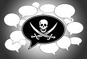 Speech,Shape,Symbol,White,Pirate,Ilustration,Flag,Talking,Discussion,Communication,Concepts,Backgrounds