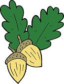 Cheerful,Drawing - Activity,Doodle,Bizarre,Clip Art,Ilustration,Cute,Seed,Leaf,Nature,Sign,Symbol,Acorn