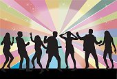 People,Elegance,Friendship,Performance,Nature,Human Body Part,Dancing,Party - Social Event,Disco Dancing,Showing,Black Color,Silhouette,Fun,Teaching,Child,Teenager,Adult,Young Adult,Music,Outline,Nightclub,Illustration,Group Of People,Males,Men,Boys,Females,Women,Teenage Girls,Dancer,Vector,Retro Styled,Dance Music,The Human Body,Disco,dance and electronic