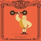 Strongman,Circus,Retro Revival,Old-fashioned,Traveling Carnival,Weight Training,Men,Boot,Vector,Human Muscle,Exercising,Picking Up,People,Human Hand,Power,Mustache,Sport,Muscular Build,Completely Bald,Struggle,Weights,Cartoon,Heavy,Ilustration