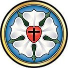 Rose - Flower,Luther - TV Series,Protestantism,Sign,Symbol,Church,Martin Luther - Religious Leader,Christianity,White,Religion,Spirituality,evangelical,Rose Petals,Change,Gospel,black cross,Circle,Blue,Heart Shape,Number 5,Gold Colored,Light at the End of the Tunnel,Symbols Of Peace,Coat Of Arms,First Class,Discovery,Luther Rose,Red,Colors,Luther Seal,Ilustration,Theology