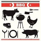Butcher,Barbecue Grill,Barbecue,Animal,Computer Icon,Food,Symbol,Pig,Cow,Old-fashioned,Retro Revival,Label,Vector,Meat,Steak,Computer Graphic,Set,Menu,Beef,Pork,Badge,Freshness,Farm
