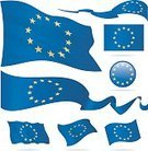 Flag,Europe,Circle,Icon Set,Computer Icon,Vector,Collection,Ilustration,waveform,Set,Waving,Ribbon,Rectangle,Flat,Shiny,European Union Flag,National Flag,Placard,Banner,Wave Pattern