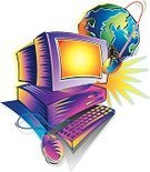 Surfing the Net,Computer,Globe - Man Made Object,Computer Software,Earth,Internet,Illustrations And Vector Art,Technology