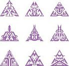 Seal - Stamp,Triangle,Insignia,Symbol,Decoration,Abstract