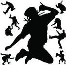 Breakdancing,Black Color,Men,Adult,Young Adult,Disco Dancing,Music,Nightclub,Ilustration,Dancer,Male,Action,Dancing,Back Lit,People,Silhouette,Vector