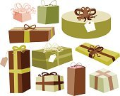 Gift,Wrapping Paper,Christmas,Wrapped,Family,Art,Label,Vector,Bow,Bow,Holiday,Ribbon,Season