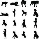 Back Lit,Silhouette,Puppy,Schnauzer,Dog,Vector,Sitting,Pets,Isolated,White,Black Color,Ilustration,Retriever,Animal,Domestic Animals,Purebred Dog,Collection,Sign,Symbol,Labrador Retriever,Labrador,Small,Computer Graphic,Animals Hunting,Hunting,Backgrounds