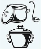 Soup,Ladle,Casserole,Cooking Pan,Black Color,Vector,Cooking Utensil,Silhouette,Stencil,Symbol,Restaurant,Concepts,Saucepan,Single Object,Gourmet,Crockery,Dinner,Dining,Drawing - Art Product,Creativity,Lunch,Isolated,Kitchen Utensil,Eat,Outline,Preparation,Shape,Daequan Cook,Food,Design,Food And Drink,Spoon - Entertainment Group,Meal,Cooking,Ilustration,Drawing - Activity,Computer Icon,Refreshment,Domestic Kitchen,Image