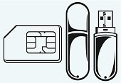 USB Cable,Computer Icon,Symbol,SIM Card,Flash,Design,Drawing - Activity,Silhouette,Connection,Badge,Photocopier,Pattern,UK,Digital Display,Stencil,Authority,Telephone,GSM,Data,Black Color,Isolated,Ilustration,Outline,Mobility,Mb,Single Object,Wireless Technology,simcard,Electrical Equipment,Concepts,Intelligence,Creativity,Communication,Computer Part,Vector,Image,Mobile Phone,Drawing - Art Product,Technology,Computer Chip,Greeting Card
