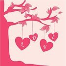 Flower,Happiness,Ilustration,Concepts,Symbol,Emotion,Positive Emotion,Togetherness,Vector,Romanticism,Tree,Love,Romance,Cartoon,Heart Shape,Cute,Silhouette