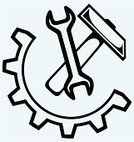 Image,Spanner,Vector,Creativity,Ilustration,Hammer,Industry,Equipment,Gear,Black Color,cog-wheel,Home Improvement,Fuel and Power Generation,Authority,Work Tool,Repairman,Service,Circle,Stencil,Isolated,Machine Part,Design,Customized,Silhouette,Drawing - Activity,Drawing - Art Product,Machinery,Computer Icon,Engineering,Outline,Concepts,toothed,Part Of,Adjustable Wrench,Symbol,Strength,Restoring,Shape,Repairing,Single Object