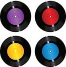 Disc,Equipment,Black Color,Blue,Purple,Red,Yellow,Circle,Plastic,Record,Gramophone,Illustration,Remote,No People,Vector,Audio Equipment,gramophone record,Audio Disk,audiodisk,Disk Record