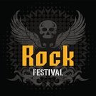 Human Skull,Ilustration,Rock and Roll,Popular Music Concert,Grunge,Fire - Natural Phenomenon,Poster,Backgrounds,Vector,Cafe,Flame,Music,Music Festival