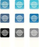 Globe - Man Made Object,Symbol,Computer Icon,Planet - Space,Sphere,Earth,Global Business,Global Communications,World Map,Sparse,Sign,Modern,Travel,Desktop Globe,Push Button,Square,Communication,Circle,Interface Icons,Vector,Square Shape,Curve,Black Color,Gray,Blue,Digitally Generated Image,Design Element,Travel Destinations,Black Background,Conceptual Symbol,Set,Royal Blue,Silver Colored,Tourism,Silver Background,Business Travel,Reflection,Arranging,Navy Blue,White Background,Design,Ilustration