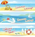 Landscape,Backgrounds,Relaxation,Ilustration,Banner,Seascape,Parasol,Design,Sand,Three Objects,Sky,Tourism,Tropical Climate,Travel,Wallpaper,Slipper,Blue,Sun,Season,Set,Journey,Water,Summer,Nature,Vacations,Sea,Beach,Vector,Starfish