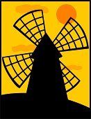 Windmill,Mill,Wind Turbine,Silhouette,Wheel,Vector,Wind,Back Lit,Old,Ilustration,Orange Color,Twilight,Machinery,Wind Power,Old-fashioned,Fuel and Power Generation,Night,Sunset,Built Structure,Tower,Illustrations And Vector Art,Architecture And Buildings,Cloud - Sky,Tall,Generator,Dawn,Turning,Cultures