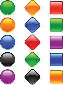 Interface Icons,Square Shape,Religious Icon,Shiny,Symbol,Shape,Circle,Icon Set,Blank,Simplicity,Vector,Diamond Shaped,Color Image,Blue,Green Color,Red,Orange Color,Design Element,Empty,Variation,Set,Black Color,Purple,Multi Colored,Isolated On White,No People,Contrasts,White Background,Illustrations And Vector Art