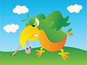 Worm,Bird,Parrot,Eating,Cartoon,Vector,Sayings,Parakeet,Beak,Ideas,Feather,Insect,Food And Drink,Humor,Eating,Hungry,Animals And Pets,Birds,Cute,Wing,Biting,Fun