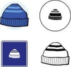 Winter,Headwear,Black And White,Fashion,Clothing,Textile,Hat,Striped,Blue,Clip Art,Woven,Cap,Personal Accessory,Sign,Symbol,Computer Icon,Ilustration,Vector,Heat - Temperature,Folded,Beanie Hat