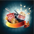 Movie Theater,Movie,Film Industry,Popcorn,Movie Ticket,Film Reel,Snack,Backgrounds,Vector,Packaging,Camera Film,Corn - Crop,Cinematographer,Blue,Design,Film Slate,Food,Camera - Photographic Equipment,Spiral,Drink,Disposable,Clip Art,Industry,Packing,Computer Graphic,Cola,Single Object,Bundle,template,Defocused,Group of Objects,Ribbon,Soda,Exploding,Striped,Full,Red,Ilustration,Appetizer,Pattern,Banner,Copy Space,Equipment