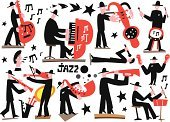 Brass Instrument,Playing,Men,Pianist,Soul Music,Icon Set,Jazz,Individuality,Live Event,Vector,Equipment,Tenor,Art,Orchestra,Trumpet,Music,Collection,Classical Concert,Creativity,Back Lit,Popular Music Concert,Multi Colored,Blues,Brass Band,People,Musical Band,Doodle,Tuba,Musician,Variation,Party - Social Event,Toned Image,Saxophone,Symbol,Performance,Ilustration,Guitarist,Drawing - Art Product,Poster,Singing,Drummer,Event,Computer Graphic,The Human Body,Sound