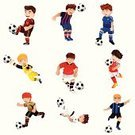 Soccer,Cartoon,Football,Child,Isolated,Sport,Running,Smiling,Athlete,Learning,White Background,Exercising,Practicing,Practice Drill,Cheerful,Clip Art,Drawing - Art Product,Ilustration,Vector,Modern,Little Boys,Icon Set,Playful,Lifestyles,Sports Training,Kicking,Ball,Fun,People,Happiness,Playing,Leisure Activity,Male,Childhood,Action,Hobbies,Recreational Pursuit,Activity