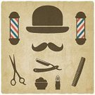 Barber Shop,Barber,Vector,Pole,Beard,Ilustration,Personal Accessory,Collection,Men,Scrapbook,Mustache,Razor,Sign,Business,Store,Elegance