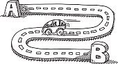 Car,Sketch,Driving,People Traveling,Road,Street,Travel,Journey,Drawing - Art Product,Traffic,Ilustration,Doodle,Vector,Letter B,Mode of Transport,Alphabet,Horizontal,Isolated On White,White,Road Marking,Clip Art,Pen And Marker,Text,hand drawn,Curve,Direction,Single Object,Black And White,Outdoors,black-and-white,Line Art,Design Element,Letter A,Black Color,No People,Transportation,Transparent,Simplicity,Concepts