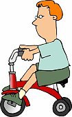 Tricycle,Little Boys,handcarves,Humor,Lifestyle,Babies And Children,Fun,Riding,Riding,Pedal,Cartoon,Child